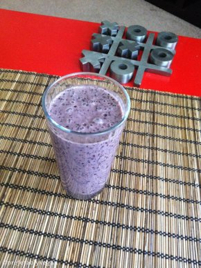 Blueberry Almond Butter Smoothie