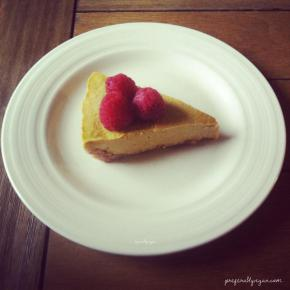 Raw Mango Cheesecake